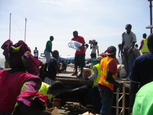 cargo unloaded at Goree